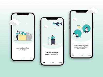 Mobile product onboarding illustration mobile app onbording