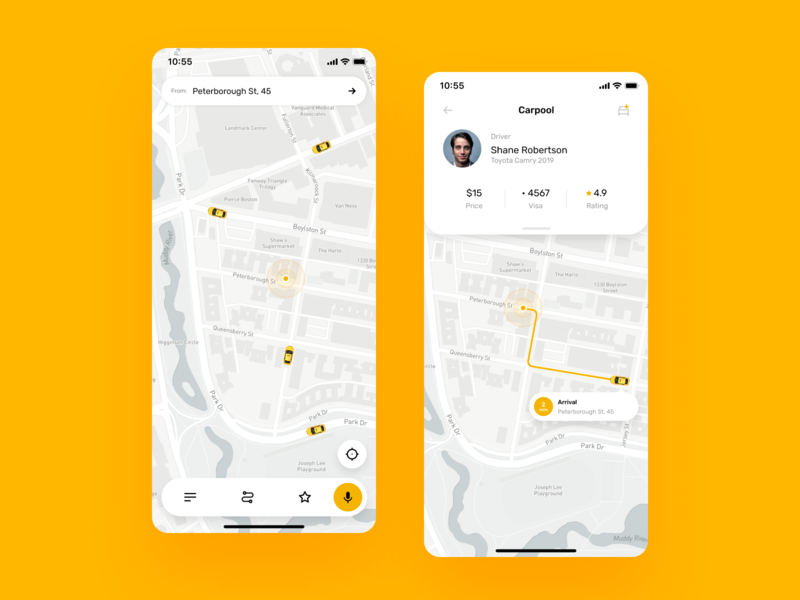 iOS Taxi Application design