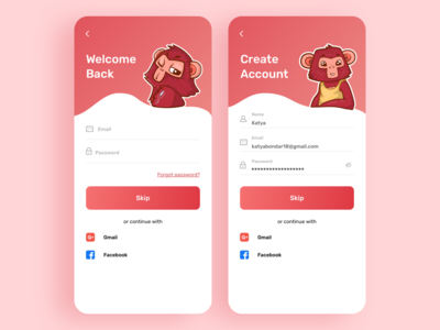 Sign in / Sign up UI  |  JTC app