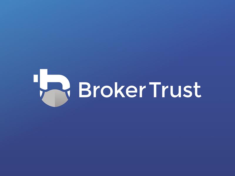 BrokerTrust logo Face Mask covid19 covid czech corona coronavirus branding typography design illustration sign cid symbol logotype logo blue