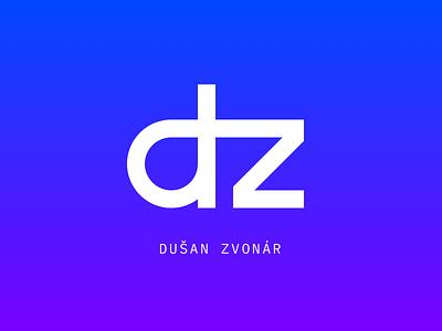 Dusan Zvonar Logo dz z d programmer wordpress webdeveloper czech vector branding typography design sign cid symbol logotype logo blue