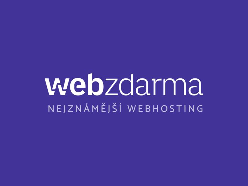 Webzdarma Logo freebie freebies freehosting hosting free branding typography design cid symbol logo logotype blue