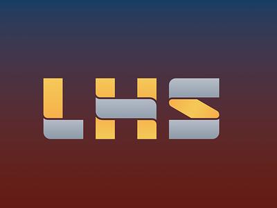 LHS Logotype letters yellow vector red branding typography design sign cid symbol logotype logo