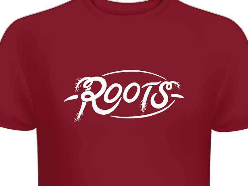 Roots Brno Logotype nature natural hipster roots branding typography design brown red sign illustration cid logotype logo