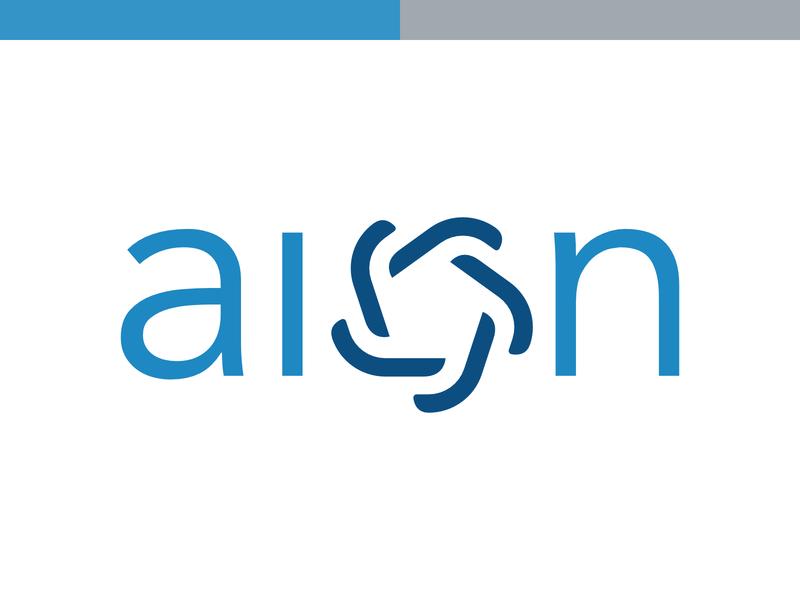 Aion Logotype gray grey it company aion vector symbol branding typography design sign cid blue logo logotype