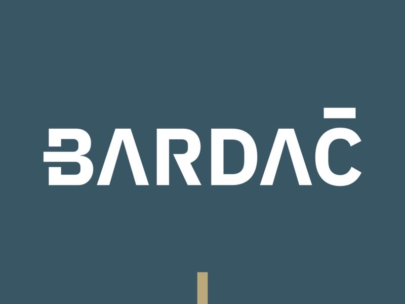 Bardac Attorney Logotype attorney branding vector typography design sign cid symbol logotype blue logo