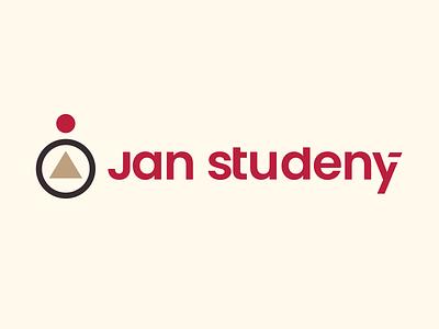 Jan Studeny Logo icon branding brown yellow red typography design sign symbol logotype logo