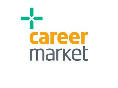 Careermarket Logo grey gray vector branding yellow green typography symbol design sign cid logotype logo