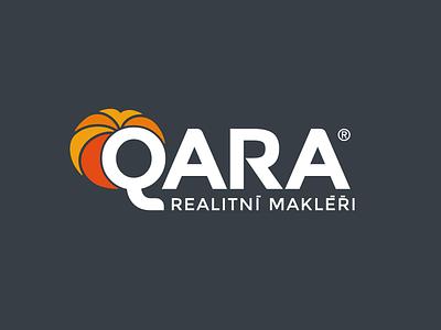 Logo Qara orange red vector branding typography design sign cid symbol logotype logo
