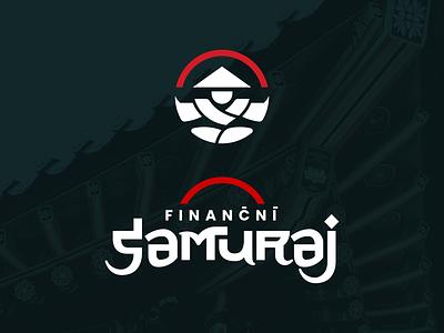 Financni Samuraj finnancial samurai japanese dark white icon vector branding red typography design illustration symbol sign cid logotype logo