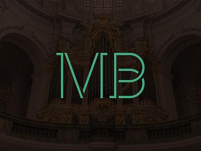 Michael Bartek Logotype organ music brown branding green typography design sign cid symbol logotype logo