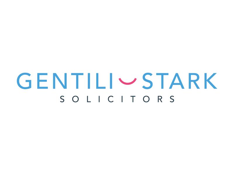 Gentili Stark Logotype solicitor attorney lawyer pink branding typography design cid symbol logotype logo blue