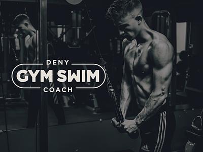 GymSwim Logotype fitness coach swim gym branding typography design cid logotype logo