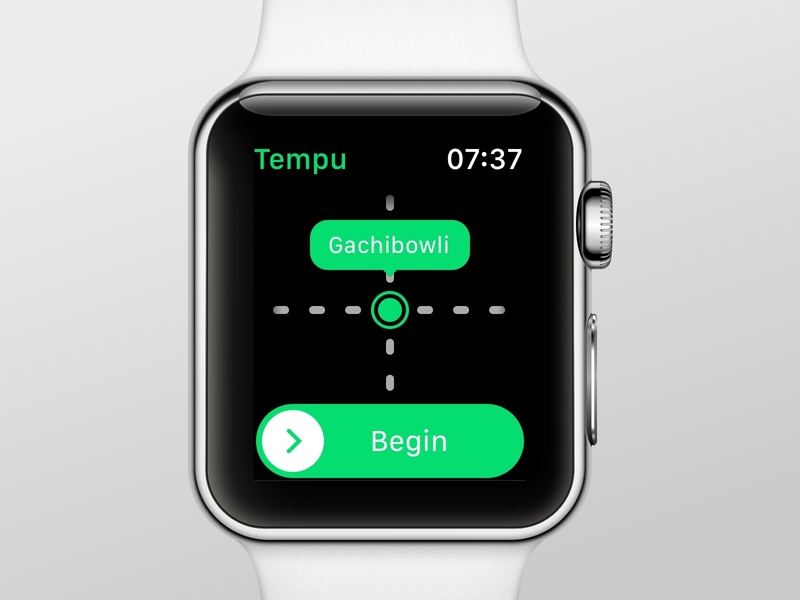 Tempu - For a hassle-free Auto-rickshaw Fares wearables concept sketch app user inteface apple watch