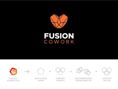 Fusion Cowork Logo Redesign