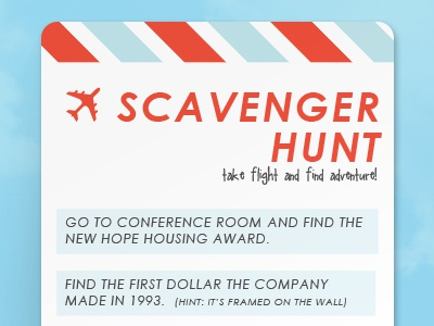 Scavenger Hunt Boarding Pass airplane scavenger hunt boarding pass