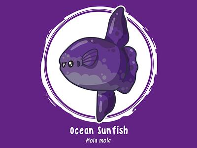 Huevember 15 // Ocean Sunfish sunfish mola mola byte size treasure saltwater fish reef fish illustration huevember art challenge