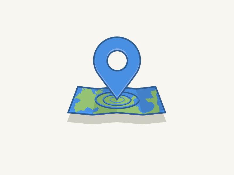 Map Icon world green blue illustration icon a day icon map