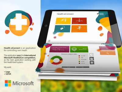 Health eConnect mobile app windows app app design health2con microsoft measure health desktop mobile ui ux ux ui app windows