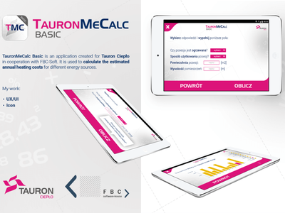 Tauron Me Calc android heating energy calc tauron design app design ux ui ux ui app mobile app mobile
