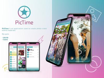 PicTime ios android icon logo app design ux ui ux ui mobile app app mobile
