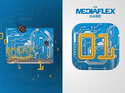 The Mediaflex Game windows app design app vector icon character design illustration ios app design app ux ui ui ux mobile app mobile