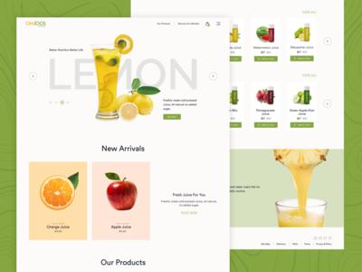 OMJOOS Juice Website Redesign