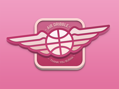 Air Dribbble debut first shot thanks dribbble air dribbble ios wings icon