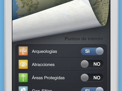 Filtering Options iphone ios mapbox switch