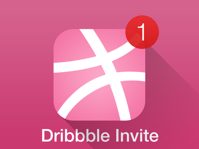 Dribbble Invite dribbble invite invites invitations available draft pass ticket icon iphone ios