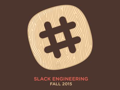 Slack Engineering Fall 2015 logo tshirt slack