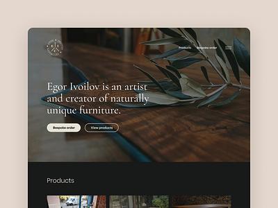 Furniture maker   Landing page clean simple web elegant minimal landing page web design furniture website design