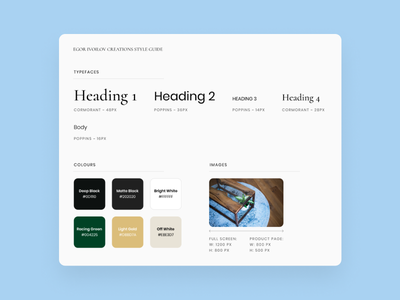 Style Guide design system typography simple clean design client web web design style guide