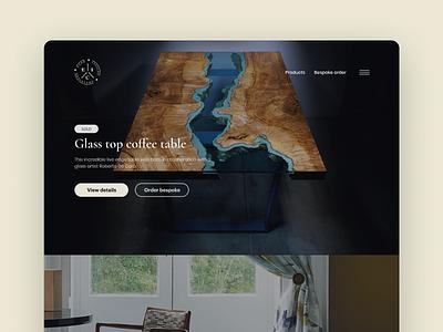 Furniture maker   Product page webflow furniture web design web branding ux ui clean design