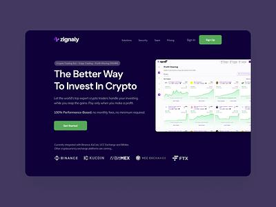 Crypto Platform   Homepage redesign dark minimal trading crypto web design web ui ux clean design