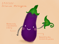 Happy veggies series: aubergine