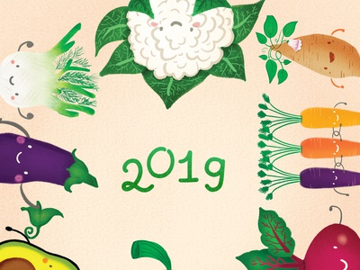 Veggie Calendar Cover