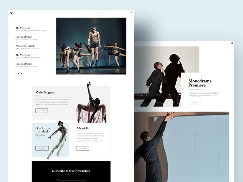 Bard - A Theatre and Performing Arts Theme troupe tour tickets theatre show play performance opera director dance culture concert ballet art actor webdesign branding portfolio wordpress design
