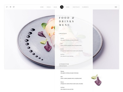 Attika - Elegant Theme for Fine Dining Restaurants