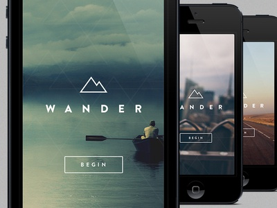 Wander wander iphone ios travel ios7 background image button logo brand mobile