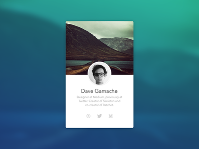 Abandoned Personal Site Idea profile avenir simple typography mobile flat
