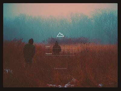Wander Login wander login ux ui simple web