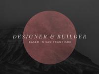 Personal Splash Redesign dark freight brandon grotesque typography portfolio splash