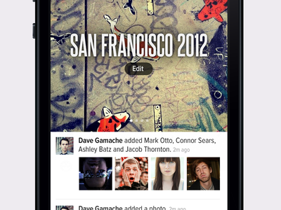 Memory Page proxima nova condensed steelfish memory timeline header iphone ios