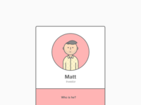 Matt on a card