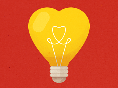 You Light Up My Life valentine heart cute light bulb