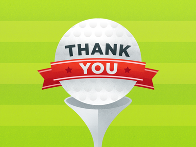 Golf Thank You Card golf golf tournament thank you thanks