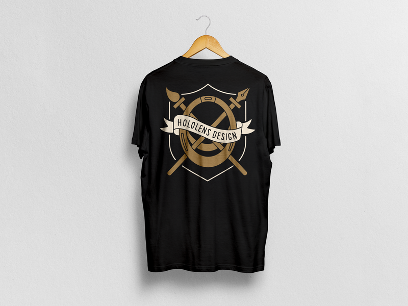 Hololens Design shirt logo shirt mockup shirtdesign shirt flat branding illustration vector design