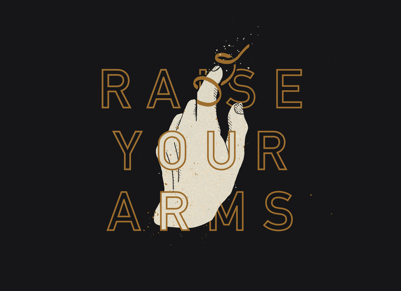 Raise Your Arms design vector ui illustrator hands hand truegrittexturesupply truegrit tgts texture flat illustration procreate m83