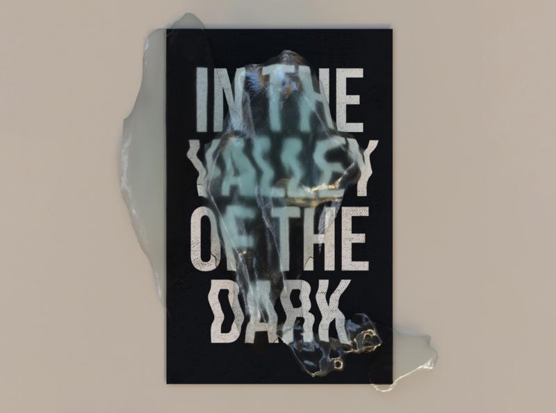 In the Valley of the Dark mockup posterdesign octanerender octane lightblue 3d illustration redesign color c4d postermock poster blue 3drender 3d